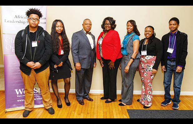 Pictured are Marques Jones and Shariyah Buggs, both students at Middleton High School; Evelyn Robertson Jr., a Whiteville retiree; Kim Crisp, a teacher at Middleton High School; Catania Minter, a teacher at Bolivar Central High School; and Kenissa Rivers and Carey Jackson, students at Bolivar Central High School.