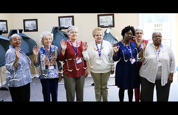 Poll workers take the oath prior to early voting on October 17. Early voting began on October 17 at the Hardeman County Election Commission and will continue through November 1. Election Day is November 6.