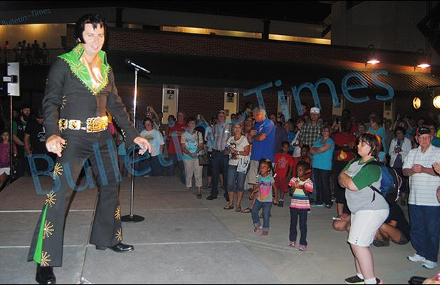 Brian Lee Howell performs for an enthusiastic crowd after the Jackson Generals game on Saturday, August 15