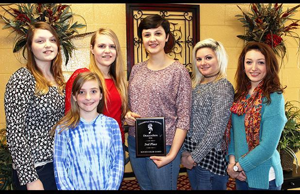 Pictured front row: Riley Melton. Back row: Madison Doyle, Amber Hilliard, Katherine Boozer, Allie Wade and Emily Waldon