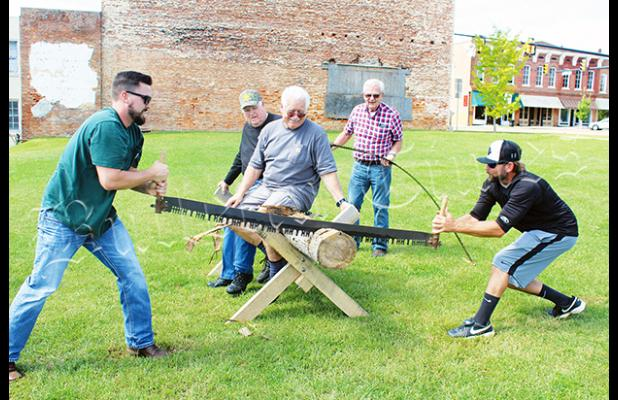 The 2018 event included a log sawing contest.