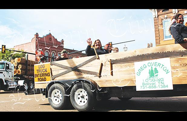 The Forest Festival parade brought entries from the forest industry to downtown Bolivar.