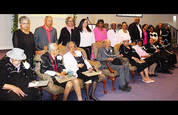 Sis. Frances Spencer, Sis. Nicy Herron, Sis. Dannie Mae Jarret, Bro. Walter Lake, Sis. Marie Taylor, Sis. Christine Rivers, Sis. Ruby Spencer, Bro. Vernon Spencer. Photo submitted by Erica Williams