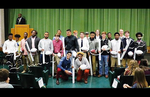 Twenty-one seniors were honored on Tuesday night.