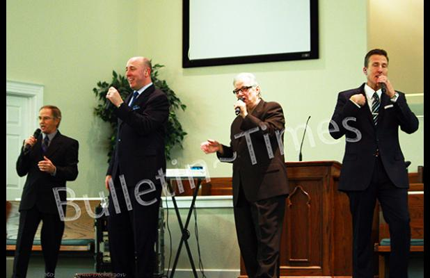 The current quartet that makes up The Kingsmen performed Southern Gospel tracks spanning a six-decade legacy.  Pictured (l-r) Ernie Phillips, Bob Sellars, Ray Dean Reese and Randy Crawford.