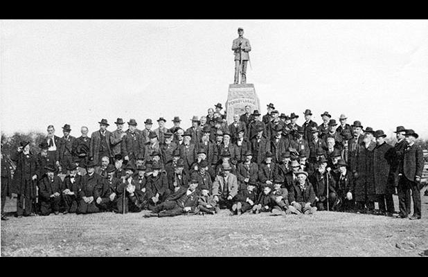 Veterans at the 77th Pennsylvania Monument Dedication, November 12, 1933.