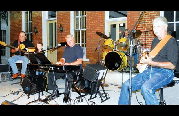 The Wolf River Band on stage