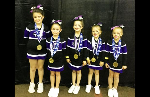 Hardeman County girls who are members of the squad are (left to right): Addison Hyman, Lillie Hickey, Katelann Borden, Lily Porch, Addie Gay.