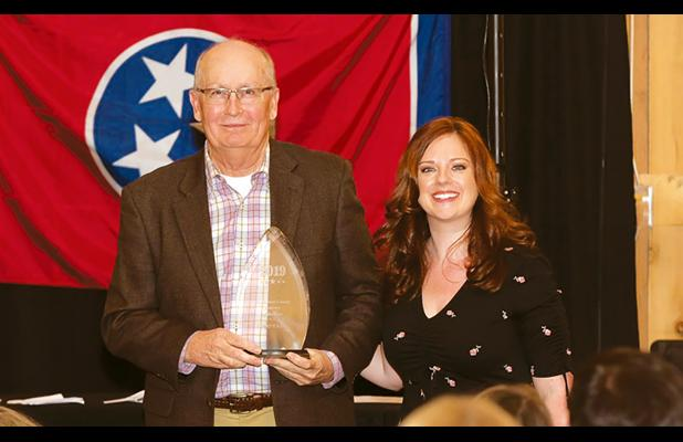 James Gregory, Plant Manager of EP Minerals, and Hardeman County Chamber of Commerce Director Laura Hall.