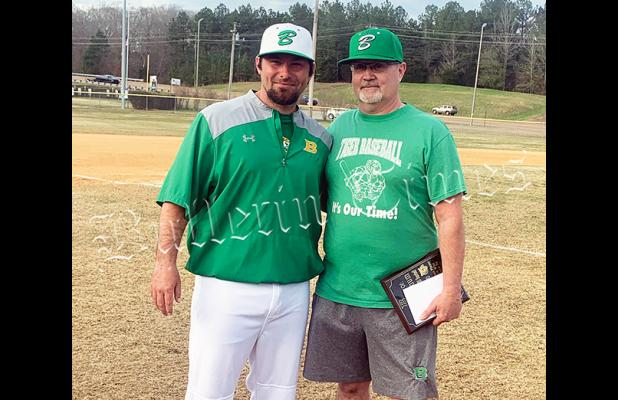Head Coach Clint Barnes and Fulghum.