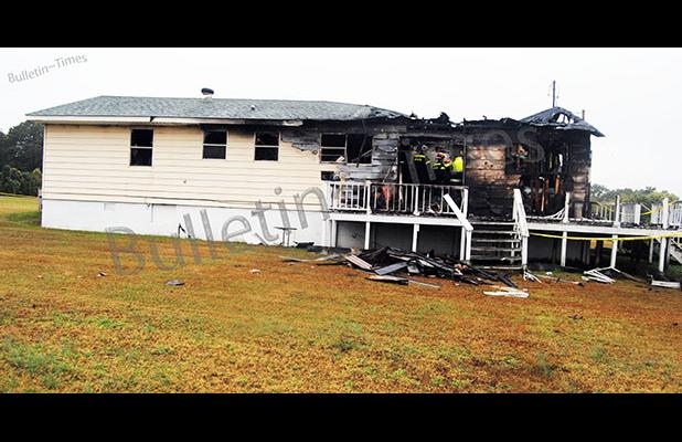 The house at 100 Moma Addie Way where Teresa Birdsong died on Friday night, October 23, was about 60 percent destroyed.