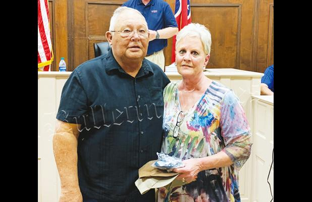The Hardeman County Commission honored Lynn and Jackie Jackson (as well as Jody and Angela Jackson who were not able to be present) for their work in providing quality auctions and auctioneers for events in Hardeman County.