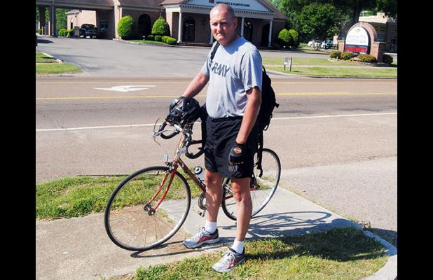 John Townsley prepares to leave Bolivar, headed to Jackson and Nashville, on his way to New York City.