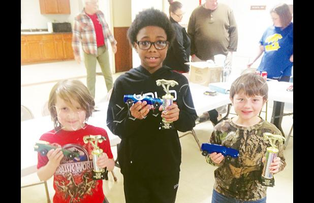 (left to right): Luke Sullivan - 3rd place , Antonio Sain - 2nd place, and Kaleb Bryant - 1st place.