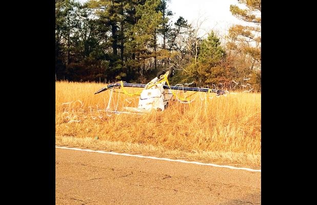 The plane, a 1967 Pitts Abernathy, was removed from the highway by Hardeman County Deputies and Hardeman County First Responders. Photo by Michael Davis.