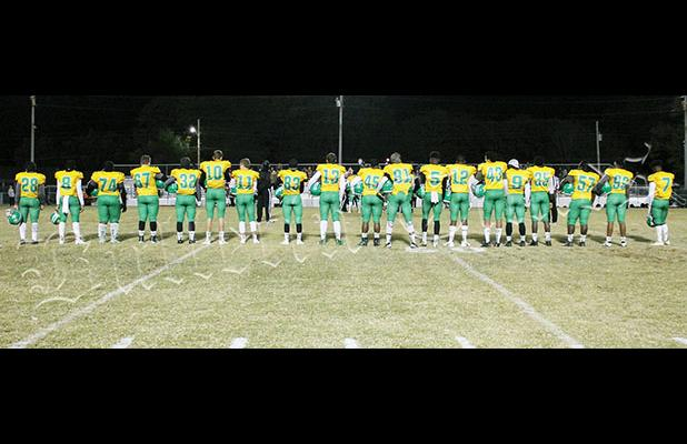 All 23 Bolivar Central Football seniors were co-captains for the last home game. Photo by Sarah Rice.