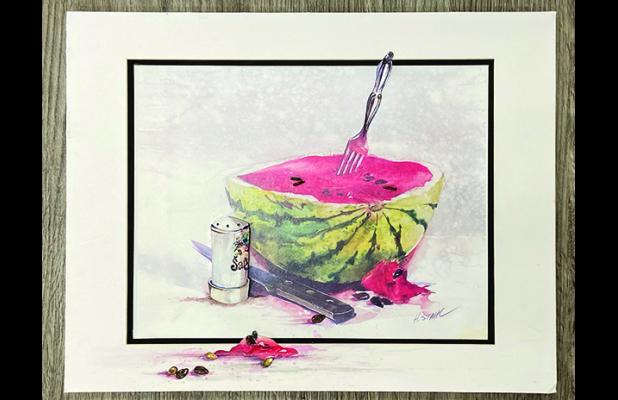 Watermelon Dreams by Helen Stahl courtesy of the H. Elisha Art Collection.