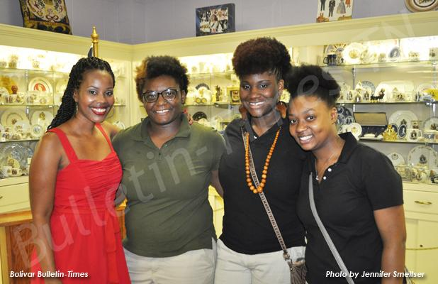 Pictured (l-r): Summer Owens, and Bolivar Central High School seniors Alize Jones, Kyla Clark and Kieasha Woods at Owens' book signing in Bolivar.