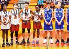 All-tournament team members Isaac Sherrod, MVP Perri Rogers, Landen Grantham, Bryan Thomas, Hardeway, Parker, Walker Gilliam, and Mikey Antonucci.