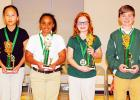 Bolivar Elementary School (left to right): 4th – Sarah Vang, 3rd – Jaliyah Woods, 2nd – Elizabeth Floyd, 1st – Kyle Hammons