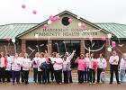 HCCHC Staff walked to BES and back with balloons and released them in honor of Breast Cancer Awareness Month (white signifies those lost to breast cancer, pink signifies breast cancer survivors), on October 15.