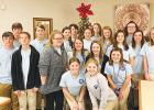 The Hornsby Beta Club brought ornaments and sang carols for the residents at Pine Meadows Healthcare and Rehabilitation in Bolivar. Photo courtesy of Julie Walton.