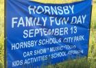 Sign outside Hornsby for Family Fun Day.