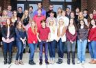 Students who scored 30 and above on ACT Subject Content pictured front row:  Elinor Westbrook, Grace Burns, Katie Crenshaw, Taylor Bennett, Jonathan Dwyer, Abby Hilliard, Tess Hilliard, Cynthia Boyer, Madison Morris, Elle Scarbrough and Tyler Earnest. Second row:  Callie Grey, Melissa Rinks, Jessica Celmer, Logan Nichols, Caleb Weatherly, Joshua Dwyer, Nic Thornton, Averi Davis, Anna-Laura Currey and Gabriel Threet. Third row: Madison Day, Jay Earnest, Sam Howell, Will Urban, Keith Powell, Scott Morris, Cor