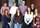 Students composite score was 30 and above pictured front row: Katie Crenshaw, Madison Morris, Callie Grey and Jessica Celmer. Second row: Caleb Weatherly, Joshua Dwyer, Jay Earnest, and Nic Thornton.