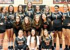 Photo right to left. Front row: Brooke Darling, Kailey Bizzell, Katie Kennamore. Middle row: Madi Burnett, Alana Kennamore, Haley Downen, Emma Robinson. Back row: Tayah Bridges, Alayna Russell, Ally Sisco, Ariana Wells, Anna Leslie, Ally Davis, Emily Reeves, Dawson Sisco.