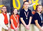 Middleton Middle School (left to right): 1st place - Ella Willis, 2nd place- Caleb Hayden, 3rd place - Joselyn Bennett, Alternate - Lauren Milford