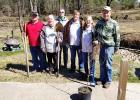 Master Gardeners in the picture left to right: Mike Abston, Carol Murphy, Gary Barrowclough, Larry Lowrance, Annette Lowrance, Lee Sammons UT Extension Agent.