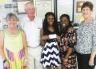 Photo (left to right): Kandy Shackelford, Executive Director Hardeman County Chamber of Commerce, Earl Smith, Ruritan President, Dakedra Mason, scholarship recipient, Dekita Cheairs, and Mary Jo Gordon, Chairman of the Ruritan Scholarship Committee.