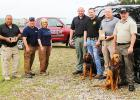 Photo left to right: Sheriff John Doolen, Paul Coley, Donna Coley, Deputy Brandon Allen, Captain Brian Vandiver, Chief Deputy Billy Davis and Deputy Timmy Howell.