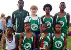 The BMS boys cross country track team won first place at the Lexington track meet held on Thursday, September 18. Pictured front row (l-r): Kadarius Cheairs, Torris Woods, Anthony Morrow and Jaquan Lax. Back row (l-r): Vantez Sain, Clayton Moorehead, Trey Ellison and D.J. Smith.