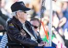 Photo: J.M. Taylor, World War II veteran and prisoner of war, watches a combat search and rescue demonstration during the 75th Anniversary Flying Tiger Reunion, March 10, 2017, at Moody Air Force Base, Ga.