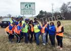 Members who participated in the litter pick up are pictured as follows: Front row (l-r) Bridgett Ransom, Joyce Murphy, Carolyn Shaw, Talia Willis, Tameria Bowling, and Bianca Motley. Back row (l-r): Diane Jeffries, Linda Beard, Yvonne Allen, Renay Harvey, Jessica Matthews, Kimberly Bowden, and Justin Ransom (son of Bridgett Ransom)