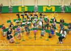 The BMS sixth grade beginning band held its own as it presented its first solo concert for family and the community.