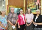 Pictured are the Merit Award winners (l-r): Judy Franklin, Linear; Dick Brown, Most Serene; Sheila Treece, Best Plain Air; Lisa Kearsy, Creative  and People's Choice; and Elaine Vars, Most Unique.