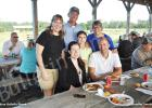 Pictured sitting (l-r): Pastor Dr. Angela Harris and Matt Harris. On the back row (l-r): FUMC Bolivar Administrative Assistant Dawn Cody, Ray Gilmer, Becca Lynne Bryant (granddaughter) and Mary Ellen Gilmer at the annual FUMC Bolivar church picnic.